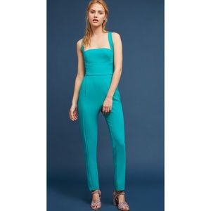 Black Halo Bene Cross Back Teal Jumpsuit
